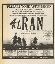 15/3/86PN13 ADVERT: THE 0SCAR NOMINATED RAN A FILM BY AKIRA KUROSAWA 5X5
