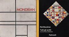 Piet Mondrian. Tutti gli scritti. A cura di Harry Holtzman. Cofanetto! 1975.
