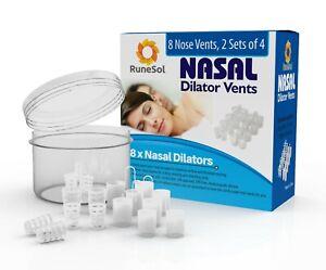 RuneSol 8 Pack Anti Snore Nasal Dilator, Snoring Relief Nose Clip, Stop Snoring
