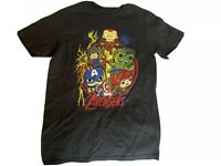 New Boy's Pop Tees Marvel Avengers Black T-Shirt Size L