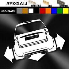 adesivo sticker SMART TWO  tuning down-out dub prespaziato,decal auto