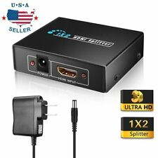Full HD HDMI Splitter 1X2 Repeater Amplifier 3D 1080p Switch Box 1 in 2 out