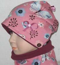 NEU süße Beanie Mütze Jerseymütze 48 50 52 54 Schmetterling Blumen Mädchen
