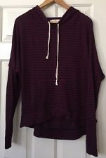 Abercrombie & Fitch Red Navy Striped Hoodie Sweater Size Large L