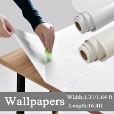 White Wood Peel and Stick Paper Self Adhesive Contact Paper for Home Wall  Decor