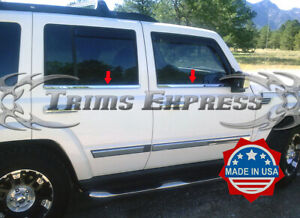 fit:2006-2010 Jeep Commander 4Pc Window Sill Trim Stainless Steel Overlay