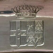 Silberplatte GRAFENWAPPEN - FRANKREICH Paris, 19. Jhdt. plate with coat of arms