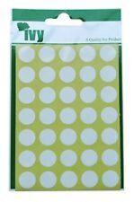 Puntini bianchi 13mm ADESIVI DOT-Spot Rotondo Appiccicoso Adesivo Cerchi etichette di carta