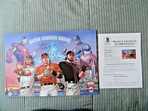 San Francisco Giants Marvel Day Silver Slugger Squad Signed Print Buster Posey