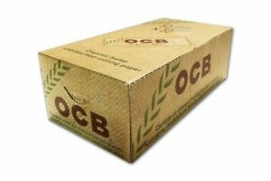 OCB Organic Hemp 50 Booklets Cigarette Rolling Papers 1 Full Box Made in France