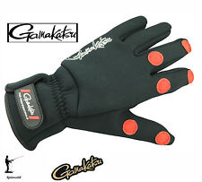 Gamakatsu Fishing Power Thermal Gloves (2mm Neoprene) Ideal for Cold Winter L