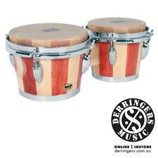 "Mano Percussion Bongo Drums - 7"" & 8"" Skin Head 2 Tone Wood Bongos - MP714"