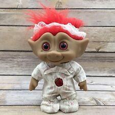 "Vintage Ace Novelty Co 6.5"" Red Rhinestone Pajama Troll Figurine"