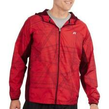 RUSSELL WIND WOVEN SOLID JACKET MEN XL EXTRA LARGE(46-48) RED ROVER +BONUS
