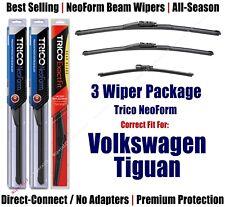 3-Pk Wipers Front & Rear NeoForm fit 2009-17 Volkswagen Tiguan - 162415/2115/13G