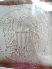 "Candlewicking Needlecraft #7810 Vintage Pillow Kit ""American Eagle"" New!"