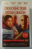 Crouching Tiger Hidden Dragon VHS 2000 2002 Cinema Version Columbia TriStar