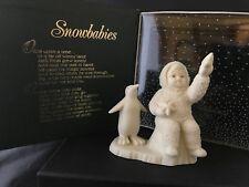 "Department 56 SNOWBABIES Bisque Figurine ""WISHING ON A STAR''"