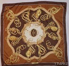 """HERMÈS rare foulard 100% soie  """" Profile """" en TBEG vintage"""
