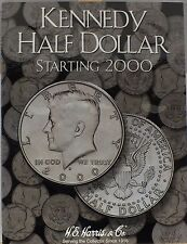 Coin Folder Kennedy Half Dollar - Starting 2000 Set - HE Harris Album 2942 new