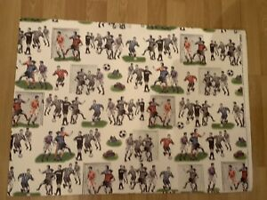 Vintage Gift Wrapping Paper Italian  Old Stock Football 3 Sheets