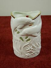 Lenox Dolphins Under Sea Discovery Candle Holder Handcrafted Bone China Pierced