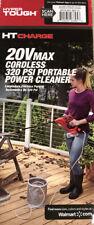 Hyper Tough 20V Max Cordless 320 PSI Portable Power Cleaner HT19-401-003-15 - CR