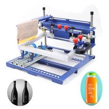Curved Screen Printing Machine Manual Cylinder Press PrinterFit tubes pens rods