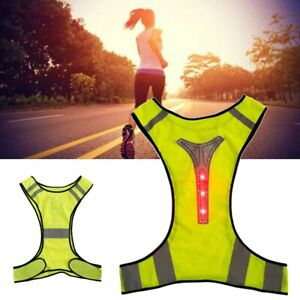 Vest Reflective Vest With Led Lights Cycling/Running Mens/Womens Premium