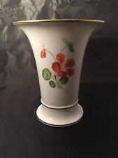 More details for vintage meissen trumpet vase floral design crossed swords mark to base
