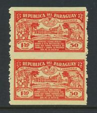 "PARAGUAY 1930, ""IMPERF BETWEEN"" UNISSUED 1.50+50c, VF NH Sc#134var (SEE BELOW)"