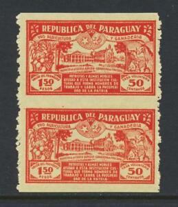 """PARAGUAY 1930, """"IMPERF BETWEEN"""" UNISSUED 1.50+50c, VF NH Sc#134var (SEE BELOW)"""