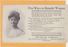 Advertising Postcard - Duval Co - Facial Massage  Marcel Wave Shampoo Manicure