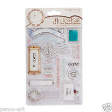 Docrafts set  Forever Friends 25 rubber stamps male names birthday sentiments.