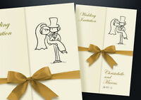50 Personalised Gatefold Wedding Day and Evening Invitations