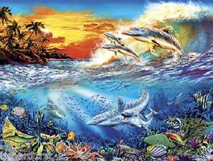 Jigsaw puzzle Animal Fish Dolphin Daze 550 piece NEW
