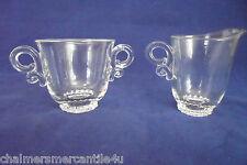 Heisey LARIAT 1957  Creamer & Sugar Bowl Elegant Vintage Glass