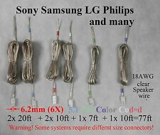 6c speaker cable/wire 77ft made for 6.2mm Sony Samsung Lg Philips Ht/Plasma Tv