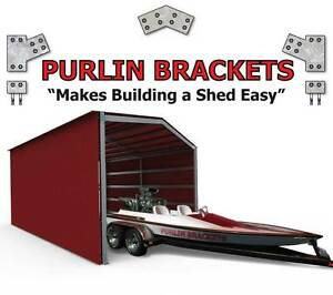 Industrial Shed 6inch C Section Purlin Bracket Set-Garage-Free Postage