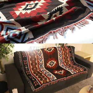Aztec Navajo Towel Sofa Throw Mat Wall Hanging Cotton Rugs Classic Wove