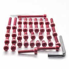 Pro-Bolt Aluminium Engine Bolt Kit - Red EYA130R Yamaha XV535 Virago 88-99