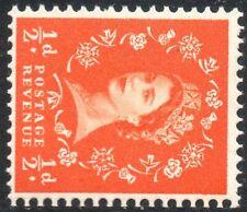 1958 Sg 570 (S4e) ½d Orange-Red Multi Crowns Crown to right Cream Paper UMM