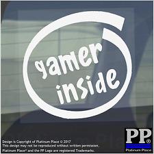 1 x Gamer Inside-Window,Car,Van,Sticker,Sign,Vehicle,Xbox,PS4,Gaming,PC,Mac,RPG