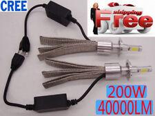 2X 200W CREE LED Headlight 40000LM Kit H4 H7 H11 6000K White Light Bulb Lamp