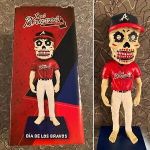Atlanta Braves Los Bravos Sugar Skull Bobblehead