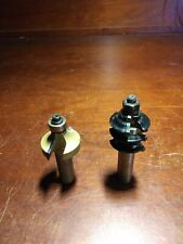 """1 1/2"""" Shank Router Bits. Black One Is 1 1/4 Gold Is 1 1/2"""