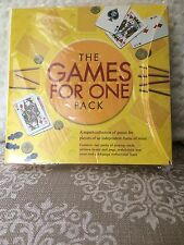 NEW NIB The Games For One Pack Collection of Over 30 Games Puzzles with Book