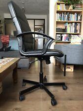 IKEA TORKEL Desk Chair, Black Leather