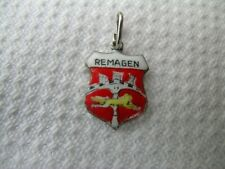 coat of arms travel charm Vintage enamelled shield shaped Remagen Rhine