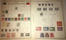 Lot Of 21! BURMA Stamps 1939-1954 Japanese Mily Hinged Minkus Sheets Unused/Used